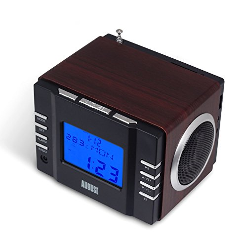 August MB300 – Clock Radio with MP3 Alarm – Portable ...