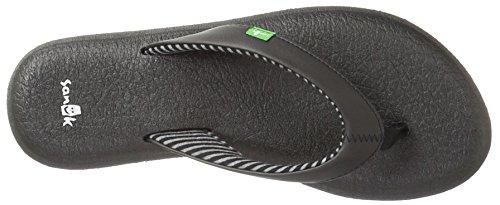 Sanuk sandales pour femme-sandale femme sanük chakra orteils yoga pour femme noir