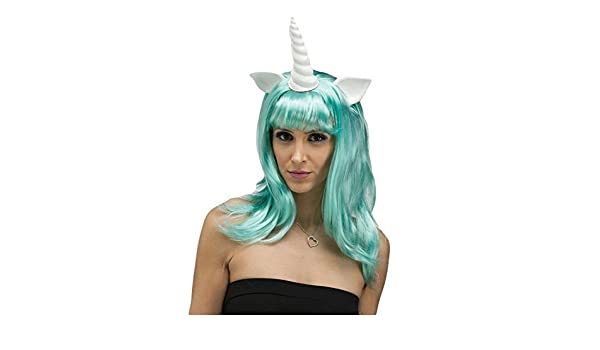 Mujer Aqua Mitos & Legends Unicornio Fantasy Peluca Disfraz: Amazon.es: Ropa y accesorios