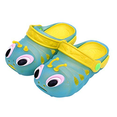 West See Baby Kinder Junge Mädchen Nette Sandale Nette Strand Schuhe Sommer Clogs (24, Blau)