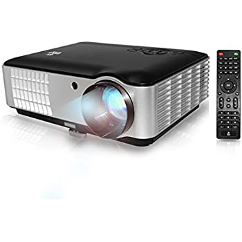PYLE Full HD 1080p Video & Cinema Home Theater Projector - Built-in Stereo Speaker, LCD + LED Lamp, Keystone Adjust, Digital Multimedia, 2xHDMI, 2xUSB & VGA Inputs for TV PC Game Business Computer & Laptop