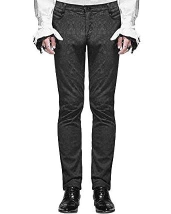 c64f83cb65fd Devil Fashion Herrenhosen Hose schwarz Brokat Gothic Steampunk VTG  Aristocrat  Amazon.de  Bekleidung