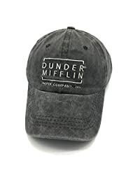 Waldeal Embroidered Adult Dunder Mifflin Paper Inc Denim Hats Funny Baseball Cap