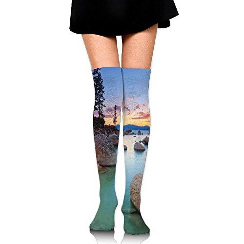 TRUSTINEEgyl Womens Horizon On Stoned Sea Exquisite Sun Beams And Reflection Romantic Shore Coastal Theme Simplicity Warm Crochet ()