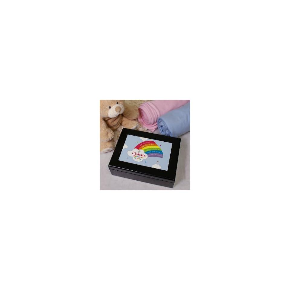 Rainbow Personalized Prayer Keepsake Box