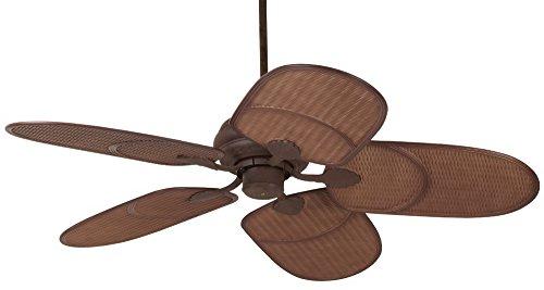 52″ Casa Vieja Rattan Outdoor Ceiling Fan
