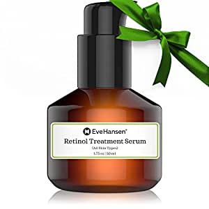 Retinol Serum Treatment by Eve Hansen. Vitamin A Serum For Fine Lines, Wrinkles, Uneven Skin Tone And Acne Scar Treatment. Vegan Skin Firming Serum And Anti wrinkle Serum to Boost Collagen Production!