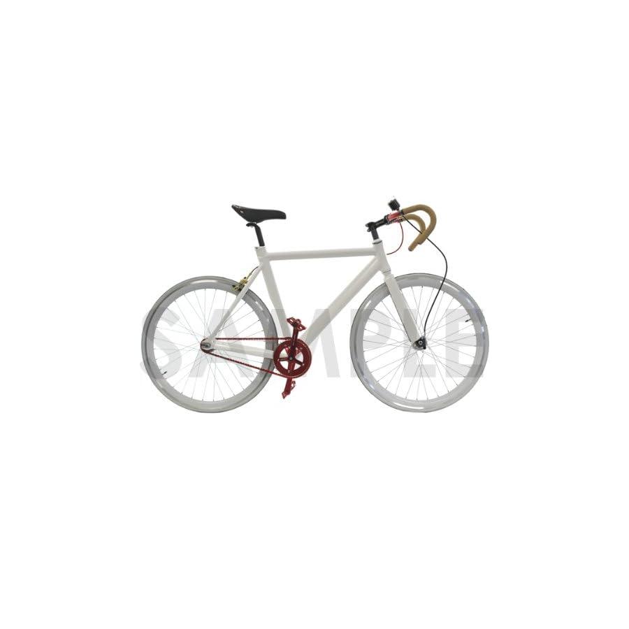 CyclingDeal Track Fixie Road Bike Frame Fork White 47cm