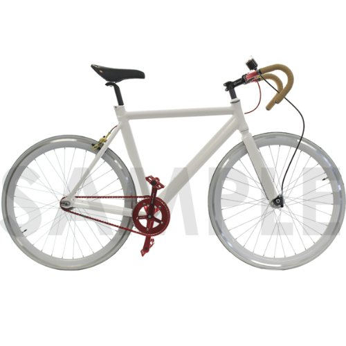 Track Fixie Single Speed Road Bike Frame with Fork Headset Seatpost White