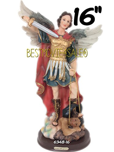 16'' Inch Saint Michael Archangel Religion Resin Statue Figurine by C & C