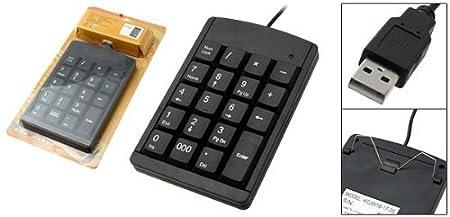 Amazon.com: Mini Black USB teclado numérico para computador portátil PC: Electronics