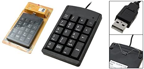 Amazon.com: Mini Black USB teclado numérico para computador portátil PC: Electronics