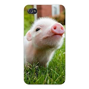 Apple Iphone Custom Case 4 6 4.7 Snap on - Cute Baby Pig Closeup in Grass