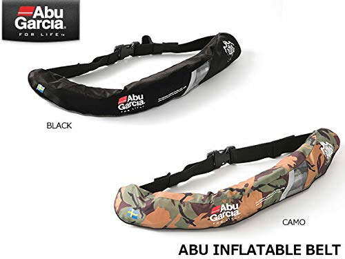 アブガルシア インフレータブルベルト 自動膨張式【桜マーク Aタイプ】 Abu 01 ブラック Fサイズ