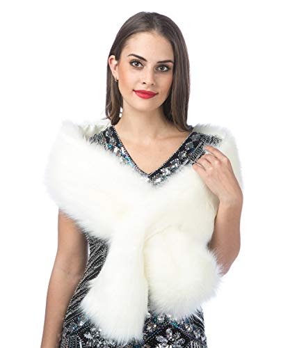 Used, Saferin Women's Winter Faux Fake Fur Straight Scarf for sale  Delivered anywhere in USA