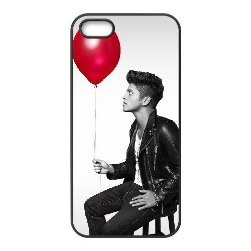 Bruno Mars 003 coque iPhone 5 5S cellulaire cas coque de téléphone cas téléphone cellulaire noir couvercle EOKXLLNCD22563