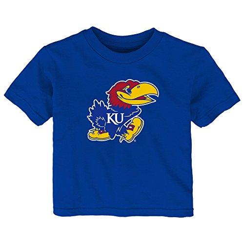 Gen 2 NCAA Kansas Jayhawks Infant Primary Logo Short Sleeve Tee, 12 Months, Royal