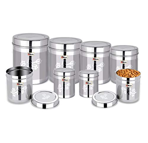 Ebun-Stainless-Steel-Containers-for-Kitchen-Storage-Laser-Floral-Design-Dabba-Set-for-Kitchen-Combo-of-8-Dabba