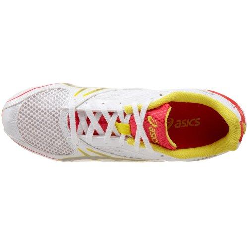 ASICS Womens Hyper-Rocketgirl 4 Track & Field Shoe White/Lightning/Par DrUze