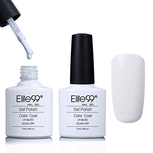 Elite99 UV LED Gel Polish Soak Off Nail Polish Manicure Pedicure Nail Art Polish Professional Salon 7.3ml French White (Shellac Nail Polish French)