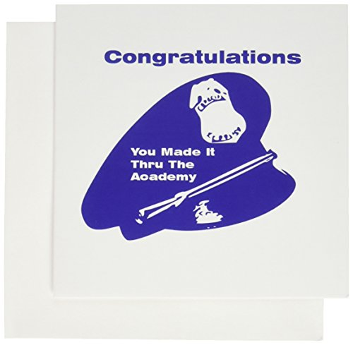 Officer Greeting Cards (3dRose Congratulations On Becoming A Police Officer - Greeting Cards, 6 x 6 inches, set of 6)