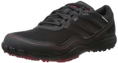 adidas Men's Puremotion Golf Shoe,Black/Black/Red,7 M US