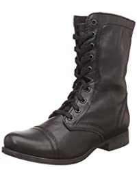 Steve Madden Women's Troopa High-Top Leather Boot
