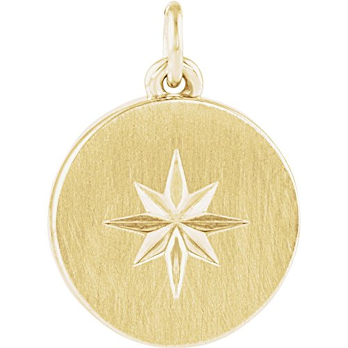 Jewels By Lux 14K Yellow Gold Starburst Disc Pendant ()