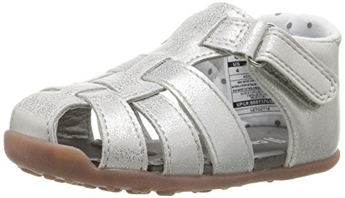 Stage 3 Sandal - Carter's Every Step Stage 3 Girl's and Boy's Walking Shoe, Addison, Silver, 6 M US Toddler