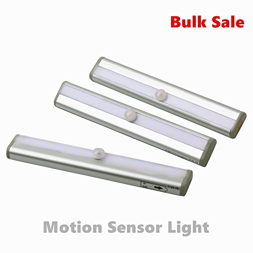 Amazlab SL3C1 Stick on Anywhere Portable LED Motion Sensor Light Bar with Magnetic Strip, Wall Light, Light Sensitive,