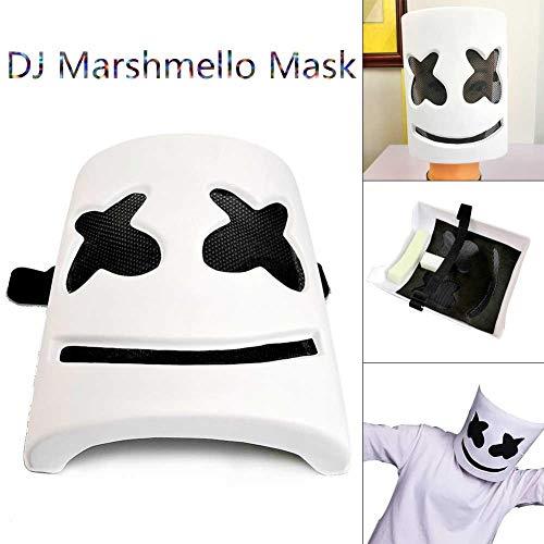 Amazon.com: Cheng-store Marshmello DJ Mask Latex Head Mask ...