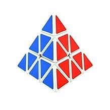 Shengshou Triangle Pyramid Pyraminx Magic Cube Speed Puzzle Twist Toy Game Education White Edge
