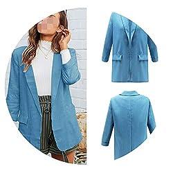 Stardust Shine Outerwear Plus Size Women Jacket 2019 Streetwear Women Jacket Office Korean Fashion Sexy Casual Jackets Sky Blue L