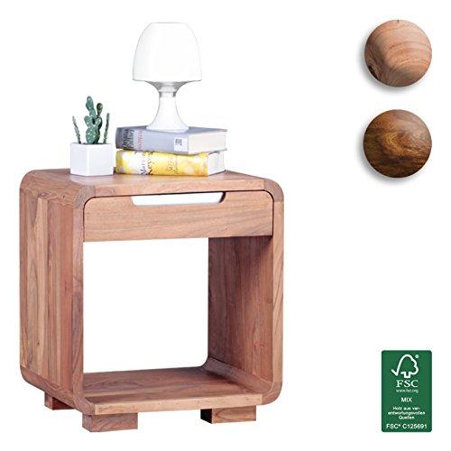 Design Nachttisch wohnling design nachttisch massivholz nacht kommode 50 cm mit