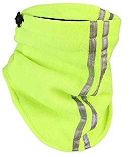 OCTAVE® Mens Hi Vis Fleece Neck Warmer [Neck Warmer Size One Size, Colour Yellow / Black]