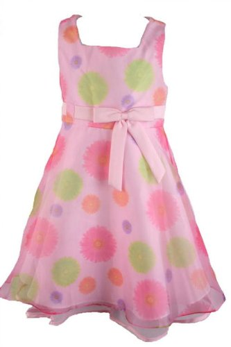Rare Editions Spring/Summer Girls Easter Dress Mothers Day Dress Pink Daisy Sundress-24 Months