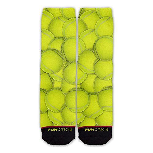 Function - Tennis Ball Pattern Fashion Sock (Best Men's Tennis Socks)