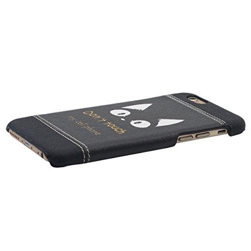"""Étui Apple iPhone 6S Plus 5.5"""", iPhone 6 Plus Case Fine Style Poids léger Dessin original Dessin animé Don't Touch My Phone Dur Coque de protection - Noir"""