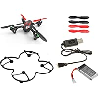 Hubsan X4 H107C Camera Quadcopter BNF with Extras (black with red stripes)