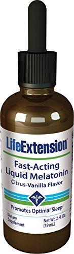 Life Extension Fast-Acting Liquid Melatonin Citrus-Vanilla Flavor, 2 Fl. Ounce (The Best E Liquid Flavors)