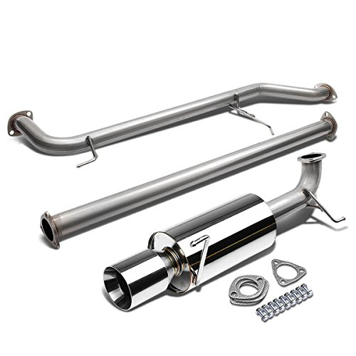 For 98-02 Honda Accord CG3-CG6 F23 Stainless Steel 4 inches Rolled Muffler Tip Catback Exhaust System