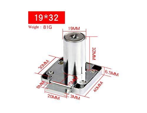 Caja de herramientas para archivador de computadora, cajón, cilindro, cerradura con 2 llaves, tono plateado, 16 *...