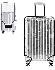 Yotako Funda protectora de PVC transparente para maletas con ruedas de 24 a 28 y 76 cm