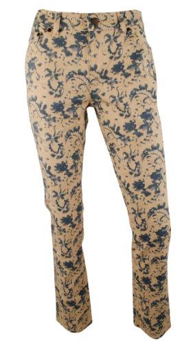 Ralph Lauren Belted Jeans (Ralph Lauren Women's LRL Jeans Co Modern Straight Ankle Floral Print Jeans Pants-BM-10)