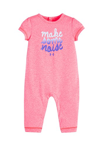 Under Armour Infant Girl`s Big Logo Coverall (3-6 Months, Make Some Noise (65)/Penta Pink)