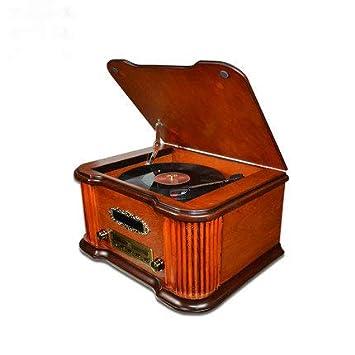 Tocadiscos con Dab Y FM Radio USB RCA AUX CD De Control Remoto De ...