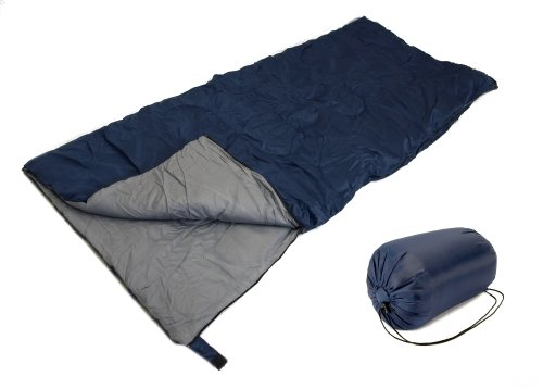 SLEEPING BAG - 20+ Degrees - NAVY BLUE - CAMPING GEAR - Carrying Bag NEW by EDMBG by EDMBG
