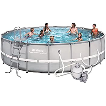 Amazon Com Bestway 56400e Power Steel Above Ground Pool