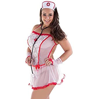 d798b7dfd Fantasia Erótica Plus Size Enfermeira Sensual - MS1765  Amazon.com ...