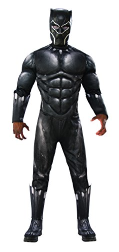 Black Panther Costume For Men (Rubie's Men's Marvel Black Panther Deluxe Costume,)